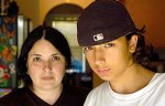 Patrick Ortiz with his mother, Theresa